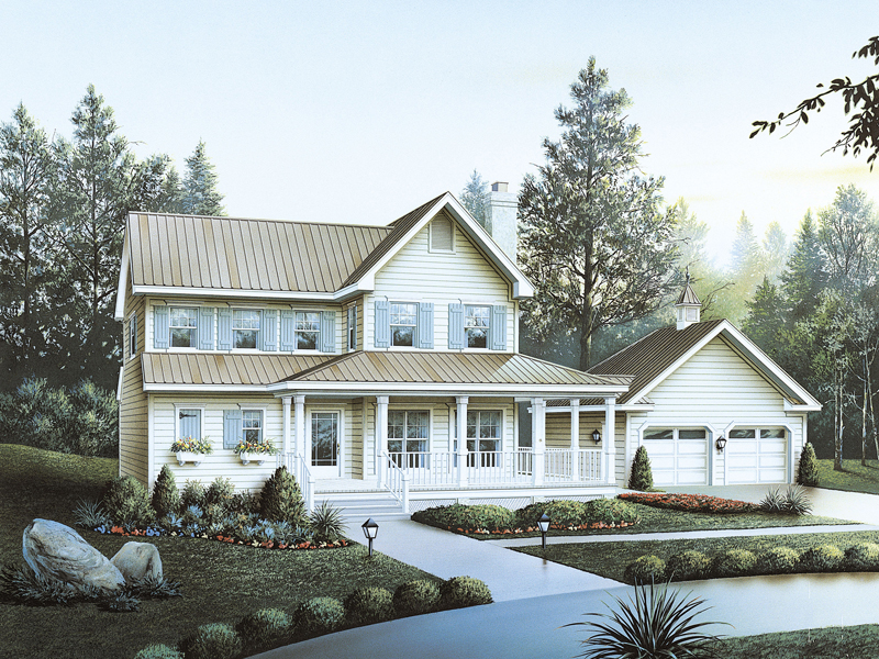 Farmhouse Plan Front of Home 040D-0027