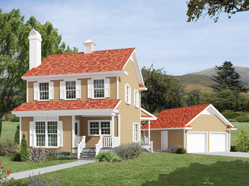Country House Plan Front of Home 040D-0031