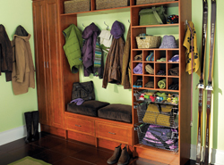 well organized mud room