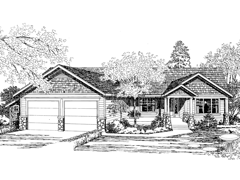 Craftsman Styled Ranch Home