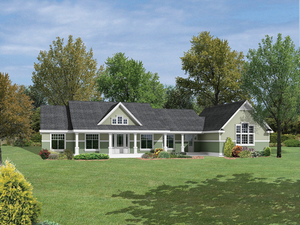House plans and design house plans single story ranch for Single story ranch homes