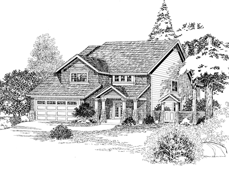 Rustic, Shingled Home With Craftsman Impressions