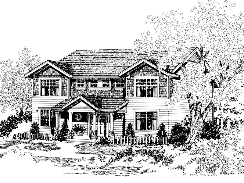 Traditional Home, Complete With Shingled Style