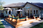 Sunbelt Home Plan Rear Photo 01 - 043D-0020 | House Plans and More