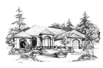 Southwestern, Florida Home Plan With Ranch Design