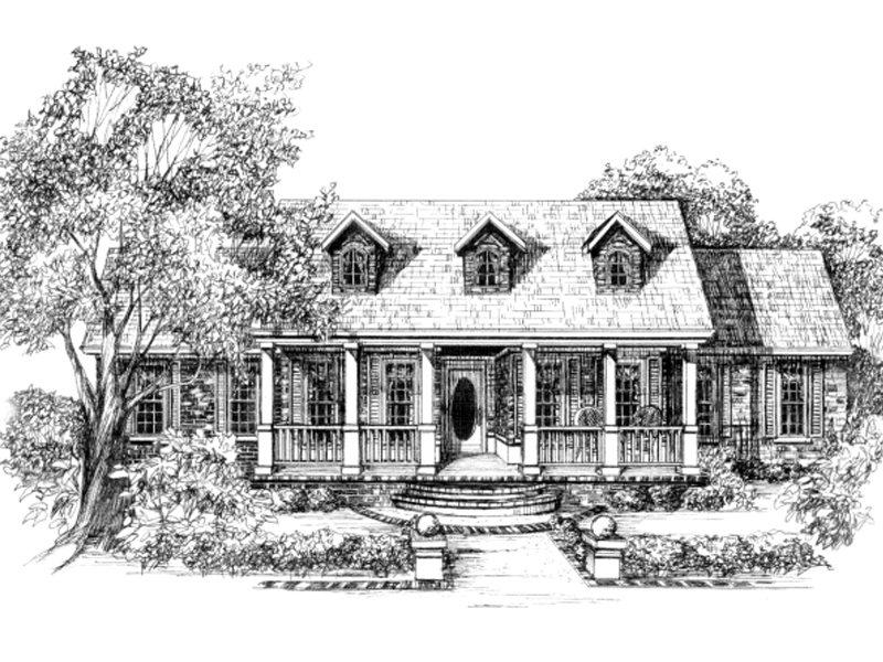 Southern Plantation Home Plan With Colonial Style