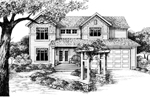 Traditional Two-Story Arts &amp; Crafts Design