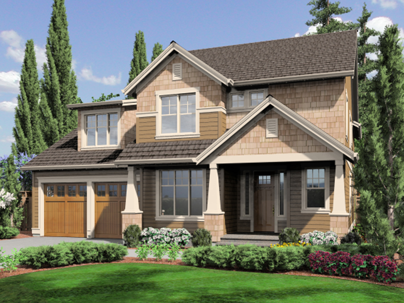 Craftsman Two-Story Provides A Warm Glow