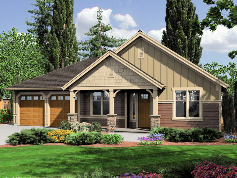 Mulligan Rustic Craftsman Home Plan D House Plans And More - Craftsman style homes with front porches pictures