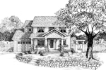 Traditional Country Narrow Lot With Craftsman Style
