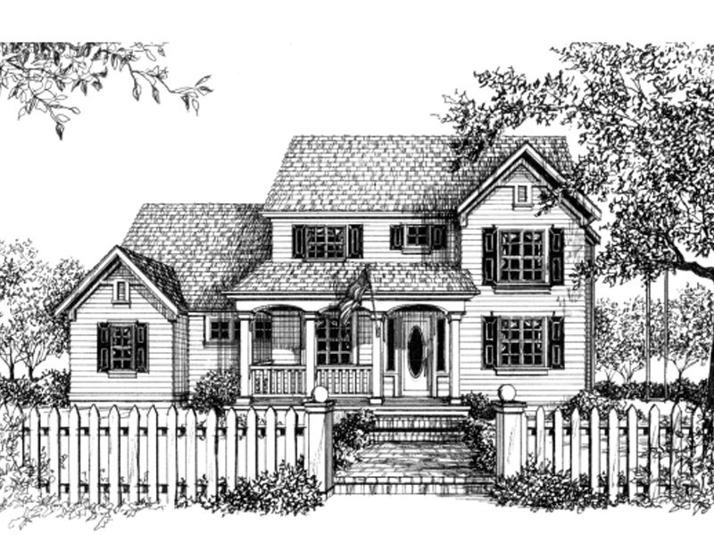 Traditional House Plan Front of Home - 043D-0048 | House Plans and More