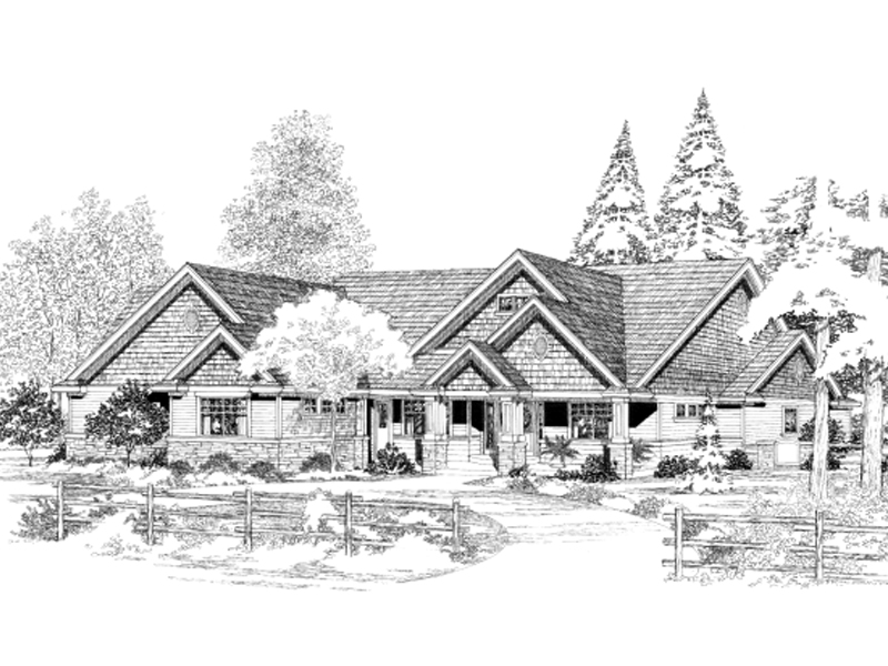 Sprawling Craftsman Home With Splendid Gabled, Shingled, And Stone Style