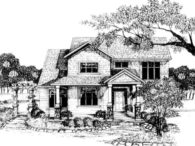 Contemporary Two-Story With Craftsman Style