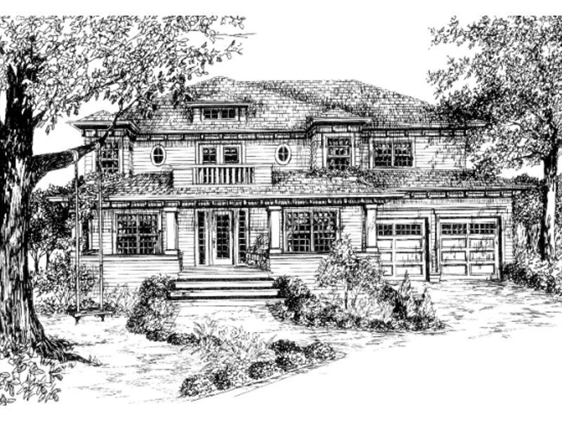 Arts & Crafts House Plan Front of Home - 043D-0055 | House Plans and More