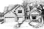 Gabled, Two-Story Craftsman Design