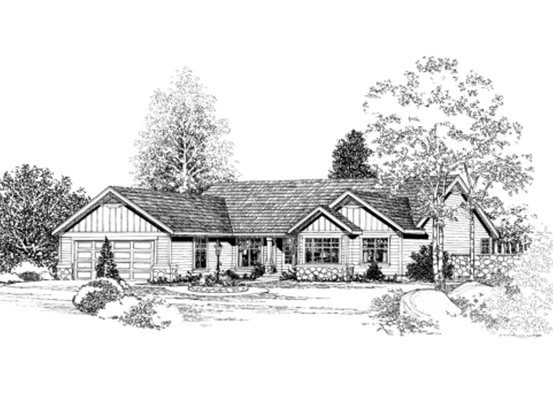 Friendly Craftsman Ranch Design
