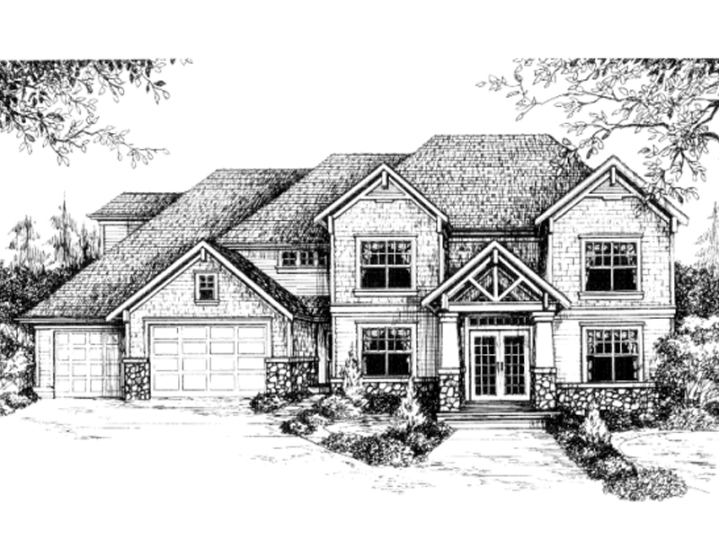 Craftsman House Plan Front of Home - 043D-0063 | House Plans and More