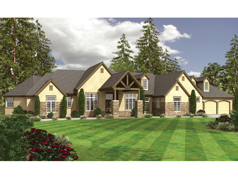 English Tudor House Plan Front of Home 043D-0068