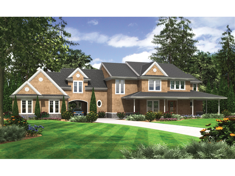 Magnificient Brick Home With Sleek, Quaint Style