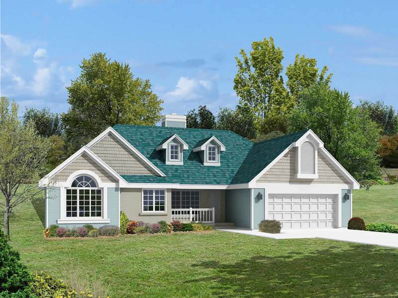 Shingle Siding And Multiple Gables Decorate This Ranch