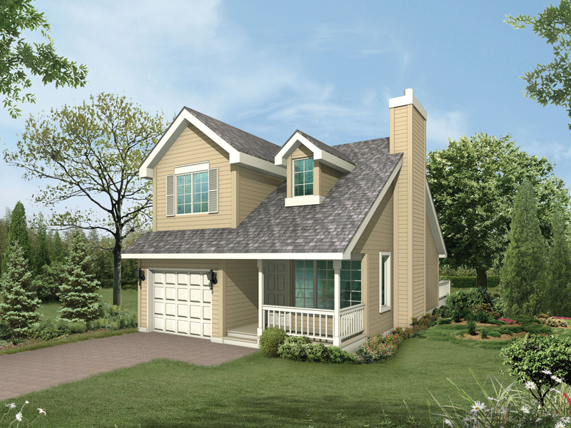 Traditional Two-Story With Front Loading Garage