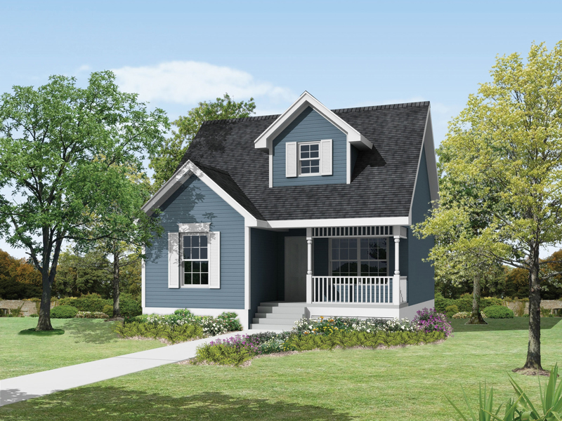 Saltbox House Plan Front of Home 045D-0017