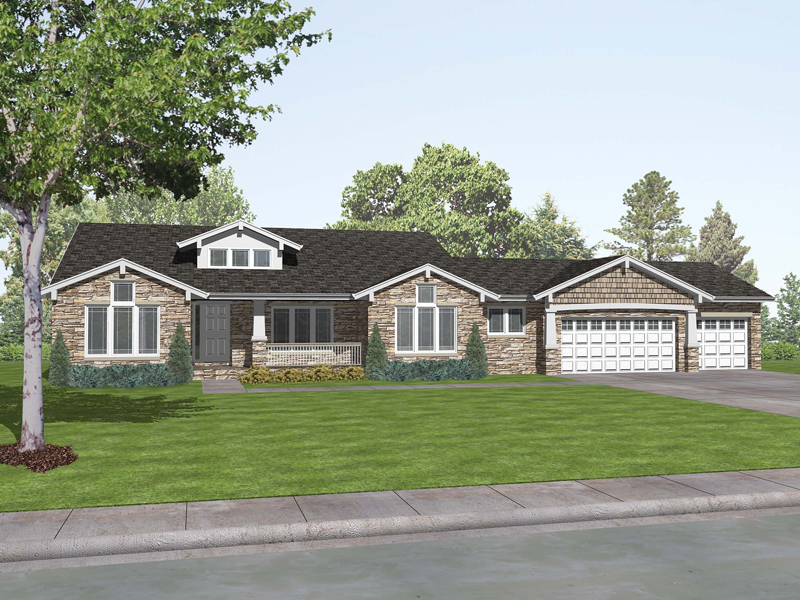 Craftsman Style Ranch Home Romaine Place Ranch Home Plan 046d 0009