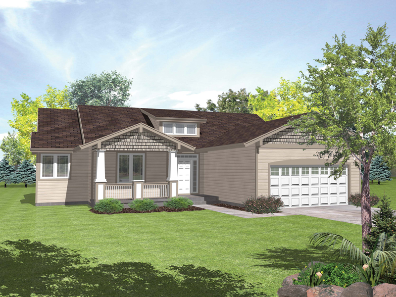 Primgarden Ranch Home Plan D House Plans And More - Craftsman style ranch house plans
