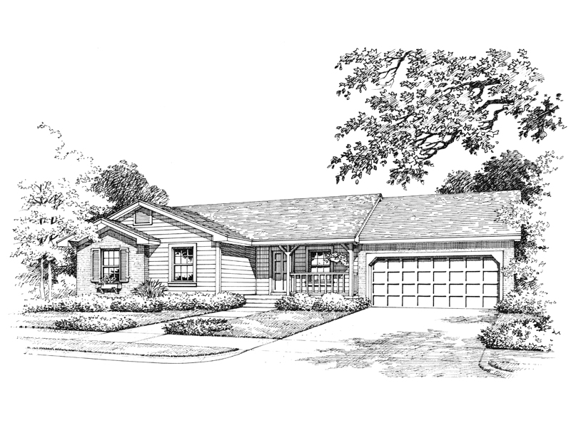 Southern House Plan Front of Home - 047D-0002 | House Plans and More
