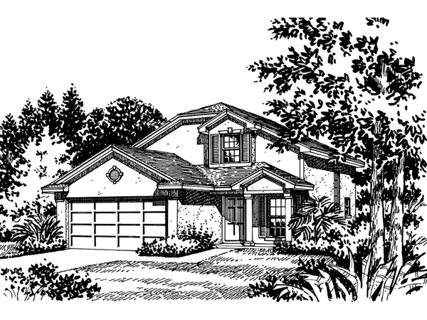 Fowler stucco ranch home plan 047d 0007 house plans and more for Fowler home designs