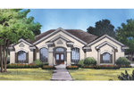 Very Formal Sunbelt Design With Great Curb Appeal