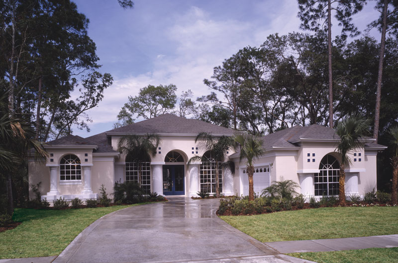 Florida House Plan Front of Home 047D-0048