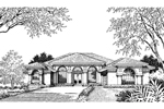 Adobe & Southwestern House Plan Front Image of House - 047D-0048 | House Plans and More