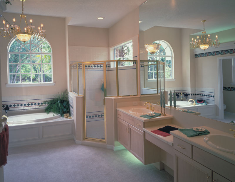 Spanish House Plan Master Bathroom Photo 01 - 047D-0048 | House Plans and More