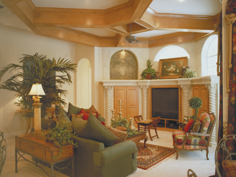 Spanish House Plan Family Room Photo 02 047D-0056