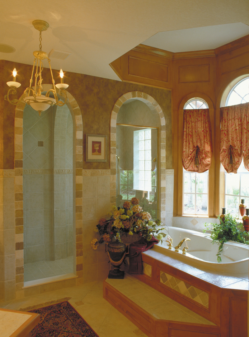 Spanish House Plan Master Bathroom Photo 02 047D-0056