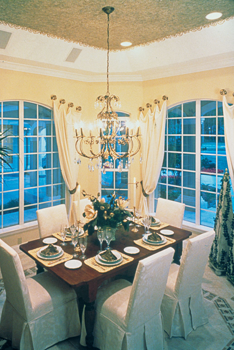 Country French Home Plan Dining Room Photo 01 047D-0058