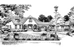 Country French Home Plan Front Image of House - 047D-0058 | House Plans and More