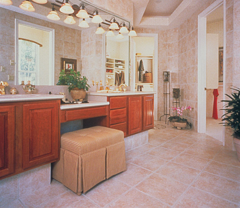 European House Plan Master Bathroom Photo 01 - 047D-0058 | House Plans and More