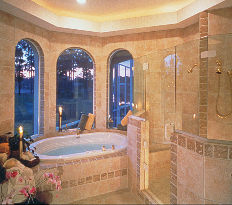 European House Plan Master Bathroom Photo 02 - 047D-0058 | House Plans and More