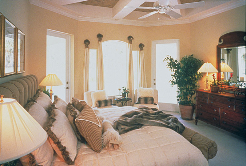 European House Plan Master Bedroom Photo 01 047D-0058