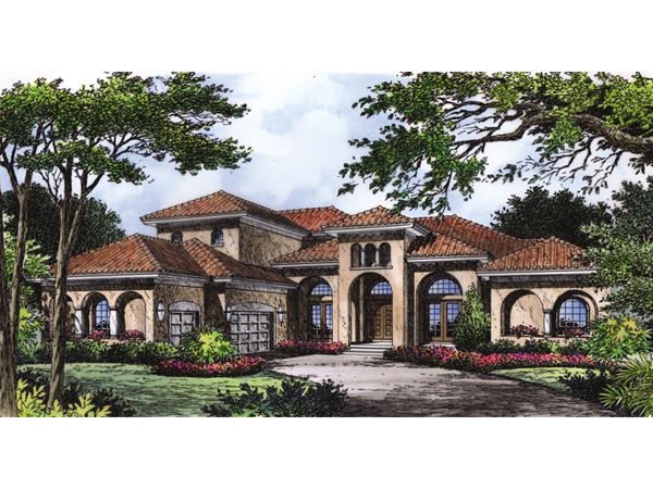 Ariana manor mediterranean home plan 047d 0063 house for Split mediterranean house