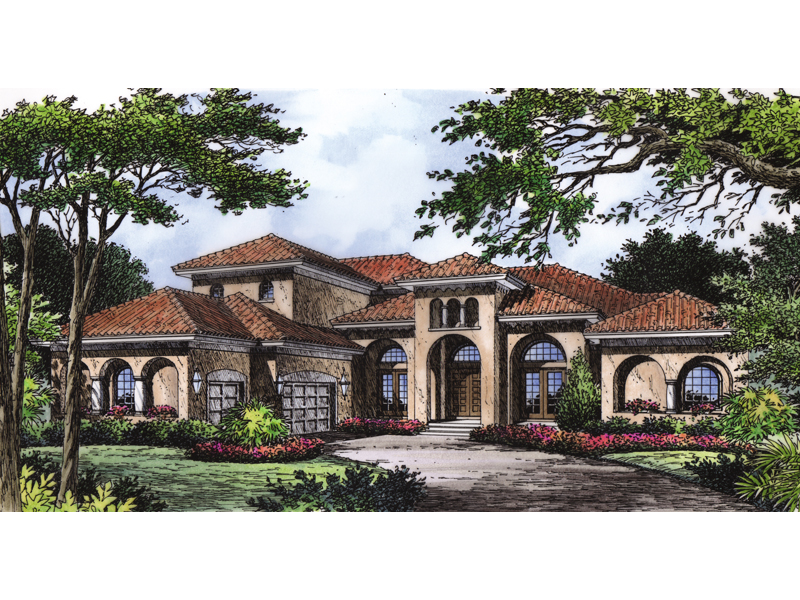 Ariana Manor Mediterranean Home Plan 047D 0063