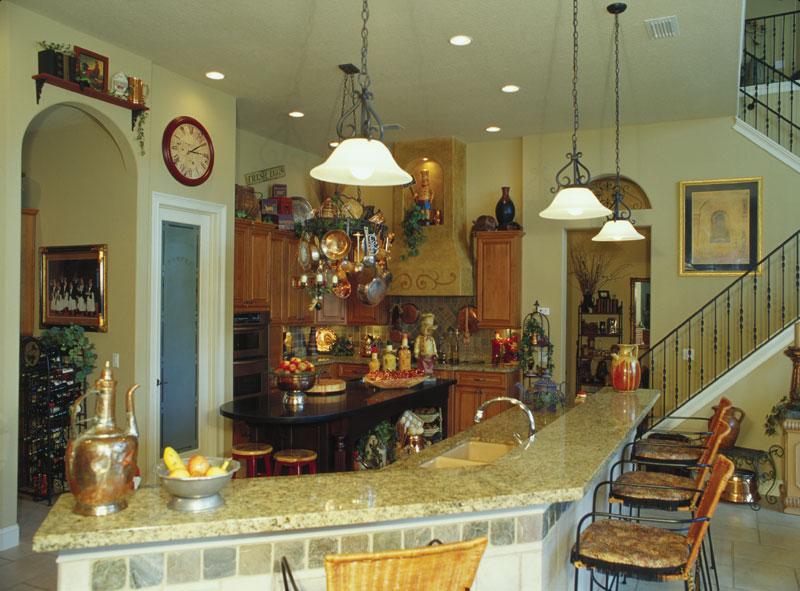 Spanish House Plan Kitchen Photo 01 047D-0064