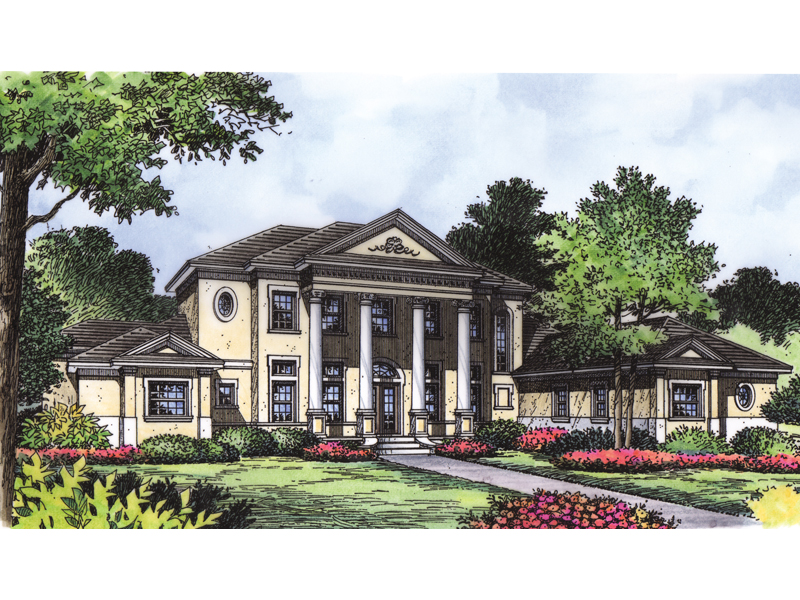 Southern colonial plantation house for 8 bedroom homes