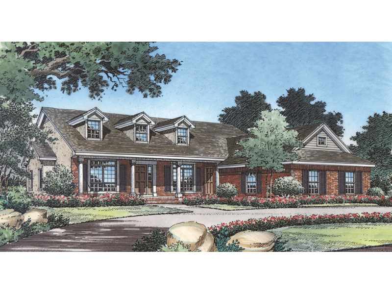 Southern House Plan Front of Home 047D-0069