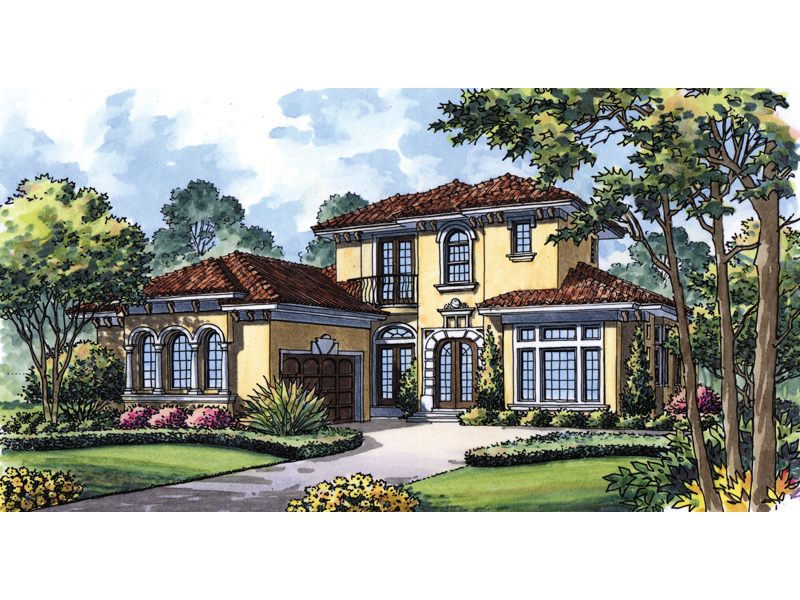 Mediterranean House Plan Front of Home 047D-0070