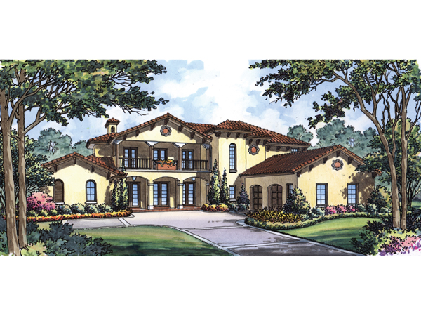 Tropicana Spanish Style Home Plan 047d 0073 House Plans