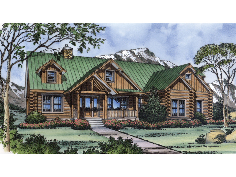 Rustic Log Cabin Design With Enhancing Wood Beam Décor