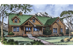 Rustic Log Cabin Design With Enhancing Wood Beam Dcor 